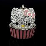 SWAROVSKI(スワロフスキー) 1124972 チャーム  ピンク+ホワイト ハローキティ カップイン