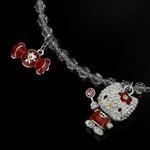 SWAROVSKI(スワロフスキー) 1120584 ブレスレット シルバー+レッド  ハローキティ キャンディー