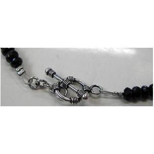 ブラックスピネルネックレス 45cm + ブレス20cm 5mmタイプ h02