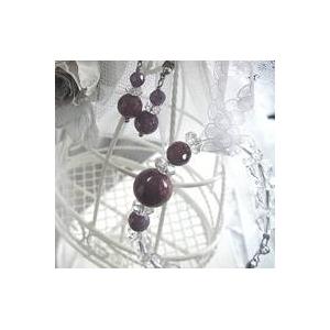 ルビー&水晶 ブレスレット・イヤリングセット - 拡大画像