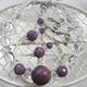 ルビー&水晶 ブレスレット・イヤリングセット - 縮小画像4