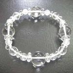 誕生石ブレス☆4月水晶☆18.0cm