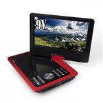 ZOX(ゾックス) 9インチ液晶搭載ポータブルDVDプレーヤー DS-PP90NC114RD レッド VRモード・CPRM対応、USB・MMC