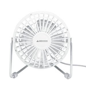 GREENHOUSE(グリーンハウス) USB扇風機 スパイダー GH-USB-FANSPW ホワイト - 拡大画像