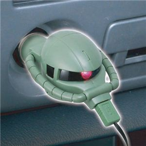 SEIWA(セイワ) 車載用 DCチャージャー モノアイが光る!量産型ザク カーチャージャー for スマートフォン microUSB GC28 - 拡大画像