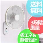 【DCモーター】TEKNOS(テクノス) 35cm羽根 フルリモコン 壁掛け扇風機 ホワイト KI-DC355