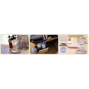 3WAY 加湿器アロマディフューザー La cote (ラ・コート)BBH-02 BL(セレストブルー)