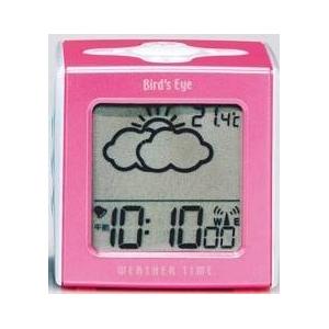 ELバックライト搭載 TWINBIRD(ツインバード) 目覚まし お天気予報機能付き電波クロック WEATHER TIME(ピンク) MTM-001P