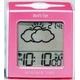 ELバックライト搭載 TWINBIRD(ツインバード) 目覚まし お天気予報機能付き電波クロック WEATHER TIME(ピンク) MTM-001P 写真1