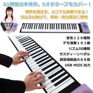 LaLaモーション ロールアップピアノ MT-RP100 写真1