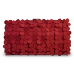 Sondra Roberts(サンドラ・ロバート) パーティーバッグ クラッチ Cut Out Flower Clutch レッド R22262 -RE
