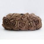 Sondra Roberts(サンドラ・ロバート) パーティーバッグ クラッチ Chiffon Rose Clutch トープ R48526A -TA
