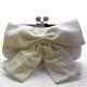 Sondra Roberts(サンドラ・ロバート) パーティーバッグ クラッチ Lace Bow Clutch ホワイト R47809B -WH - 縮小画像1