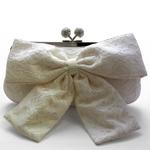 Sondra Roberts(サンドラ・ロバート) パーティーバッグ クラッチ Lace Bow Clutch ホワイト R47809B -WH