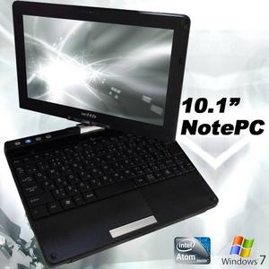 with タブレットPCの様に使えるノートパソコン 10.1インチ MT-MPC01K Windows7 タッチパネル 無線LAN webカメラ搭載 - 拡大画像