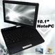 with タブレットPCの様に使えるノートパソコン 10.1インチ MT-MPC01K Windows7 タッチパネル 無線LAN webカメラ搭載 - 縮小画像1