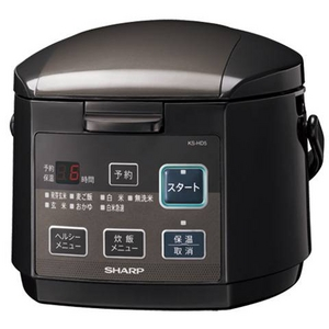 SHARP(シャープ) ジャー炊飯器 ブラック KS-HD5-B - 拡大画像