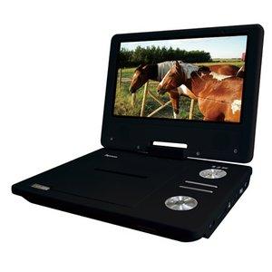ZOX(ゾックス) 9インチ液晶搭載DVDプレーヤー + 1SEG TV DS-PP90EC309BK ブラック - 拡大画像
