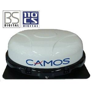車載用衛星デジタル放送受信用アンテナ 自動追尾アンテナ 【12V用】自動追尾で常に衛星を捉えて安定受信【小型・軽量・強力マグネット式】日本全域受信タイプ BSデジタル/110度CSデジタル放送受信アンテナ CAMOS CSA-302