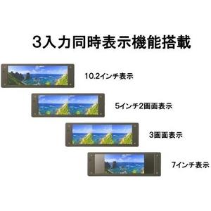 【即納】ミラーモニター【3画面同時表示・バックカメラ連動機能】大画面10.2インチパノラマ液晶ルームミラーモニター イノベイティブ INNOVATIVE DLX-P001