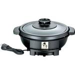 TWINBIRD(ツインバード) 電気グリル鍋 EP-D162B 3〜4人用にちょうど良い 2.2L 【土鍋8号サイズ相当】 直火対応・丸洗いOK