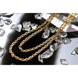 純金製ゴールドチェーン ネックレス あずきチェーン 50cm