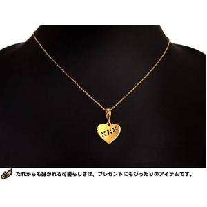 純金ペンダントトップ 【キューティハート】 24K999ゴールド !ゴールドペンダントトップ