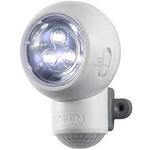 MITSUBISHI(三菱) LEDライト  Spylux(スパイルクス) ホワイト 防犯対策に 人の動きに反応して自動点灯、自動消灯機能つき【電池式だからコンセントの無い場所にも】