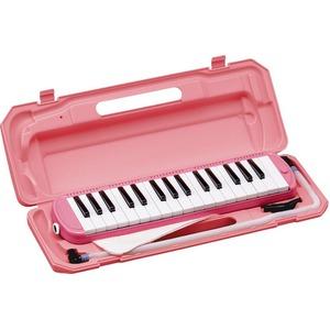 カラフル32鍵盤ハーモニカ♪ MELODY PIANO 【P3001-32K】 ♪ ピアニカ ♪  ピンク - 拡大画像