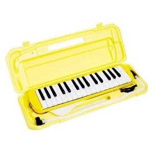 鍵盤ハーモニカ カラフル32鍵盤ハーモニカ♪MELODY PIANO 【P3001-32K】♪ピアニカ♪ イエロー
