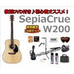アコギ初心者セット 【ウエスタンタイプ】SepiaCrue 初心者でも安心!アコースティックギター入門14点セット BK