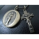 KRAIM(クライム) キリストクロス&マリアロケットネックレス アンティークゴールド 写真2