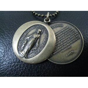 KRAIM(クライム) キリストクロス&マリアロケットネックレス アンティーク調ゴールド