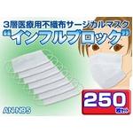 3層医療用サージカルマスク 「インフルブロック」AN-N95 250枚セット