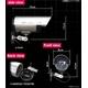 最高級【ダミーカメラ】赤外線暗視タイプ ダミー防犯カメラ 【A23】  写真2