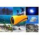 【小型カメラ】水中ビデオカメラ 水深10M 8G内蔵 Windows7対応【AN-W010 水中カメラ】 写真1
