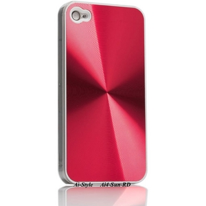 Ai-Style Series iPhone4 ハードケース 【Ai4-Sun-RD】 Type Sun RD(レッド) - 拡大画像