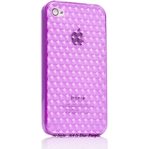 Ai-Style Series iPhone4 TPUケース 【Ai4-S-Dia-Purple】 Type S-Dia Purple(パープル) - 拡大画像