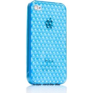 Ai-Style Series iPhone4 TPUケース 【Ai4-S-Dia-Blue】 Type S-Dia Blue(ブルー) - 拡大画像