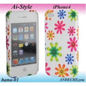 Ai-Style Series iPhone4 TPUケース Type 花柄 【Ai4-hana-01】 - 拡大画像