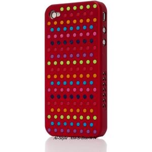 Ai-Style Series iPhone4 ケース 【Ai4-S-Dot-WN】(ワイン)替玉7色各16個付 - 拡大画像