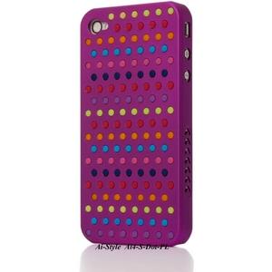 Ai-Style Series iPhone4 ケース 【Ai4-S-Dot-PL】(パープル)替玉7色各16個付 - 拡大画像