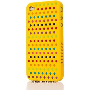 Ai-Style Series iPhone4 ケース 【Ai4-S-Dot-YL】(イエロー)替玉7色各16個付 - 拡大画像