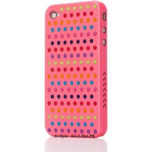 Ai-Style Series iPhone4 ケース 【Ai4-S-Dot-PK】(ピンク)替玉7色各16個付 - 拡大画像