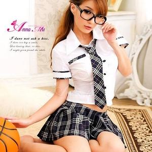 アキバ系♪女子高生セーラー服3点セット - 拡大画像