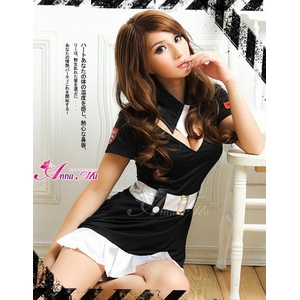 セクシー婦人警官ミニスカポリス2点セット - 拡大画像