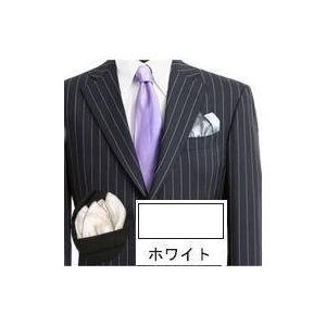 ポケットチーフ フィックス・ポン クラッシュド ホワイト