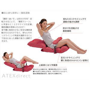 ATEX(アテックス) 腹筋!座いす AX-HC151br ブラウン