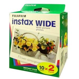 FUJI FILM インスタントフィルムinstaxワイド用フィルム2本パック(30個)600枚セット - 拡大画像