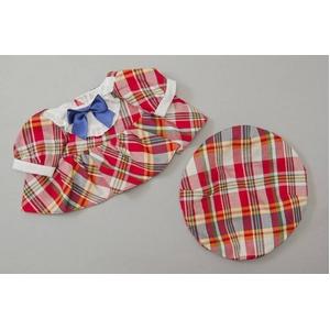 Healing Partner  夢の子コレクション36 帽子付きチェック柄ワンピース